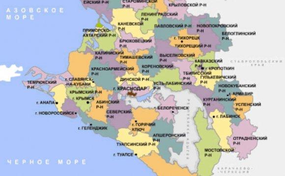 Курортная карта Краснодарского